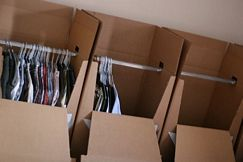Wardrobe removal boxes storage packing idead (Click to enlarge)